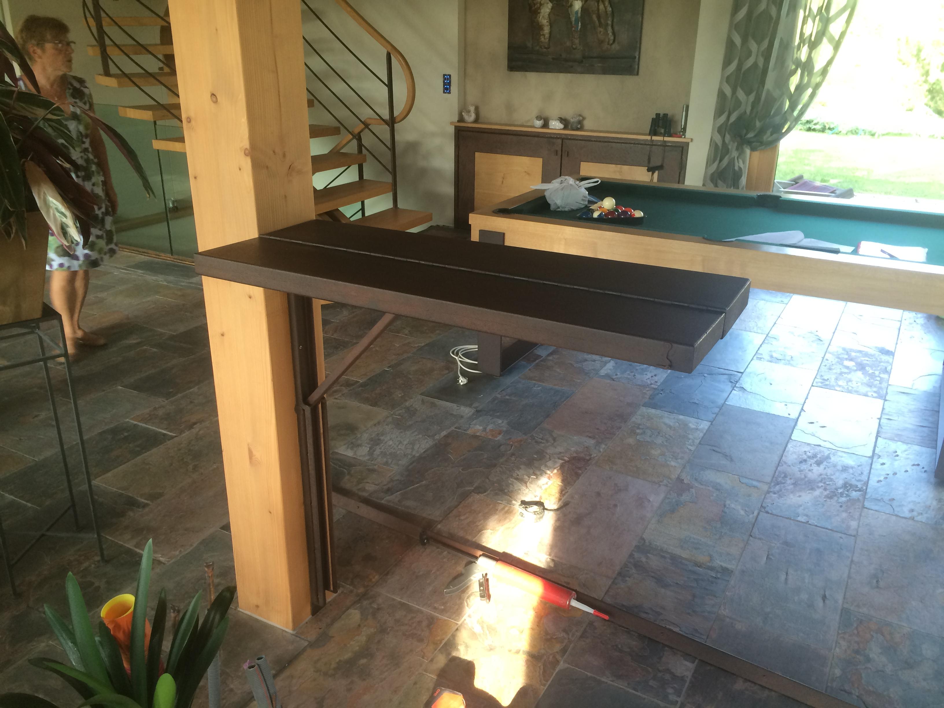 1 Table sur mesure en acier bonneville
