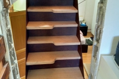 42 Fabrication escalier acier bois Haute Savoie